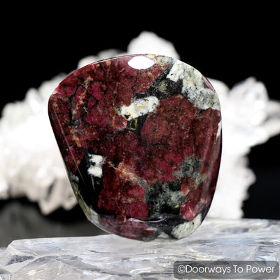 Eudialyte Aegirine Polished & Tumbled Palm Stone Crystal