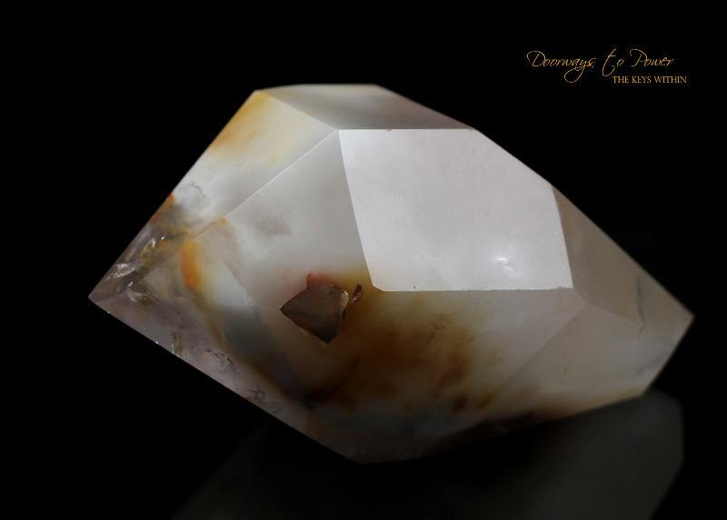 Angel Phantom Amphibole Quartz Crystal