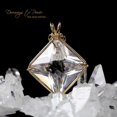 Danburite Magician Stone Pendant 'Luminous' 14k Gold