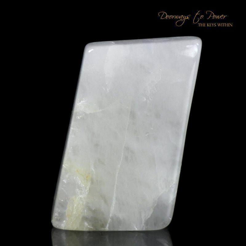 White Azeztulite Quartz Crystal
