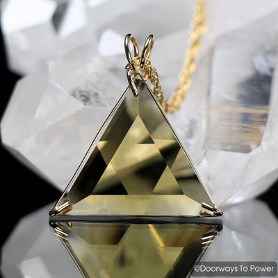 John of God Crystal Citrine Star of David Vogel Pendant 14k
