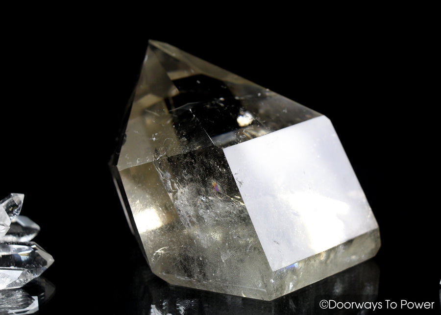 John of God Citrine Quartz Paperweight Grounding Crystal