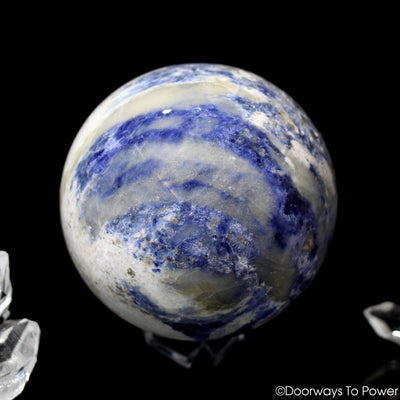 John of God Quartz Sodalite Crystal Healing Sphere