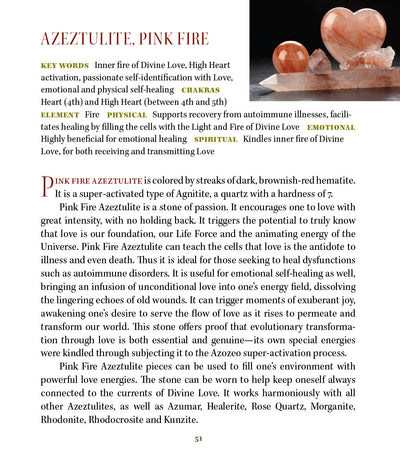 Pink Fire Azeztulite Crystal Metaphysical Properties Meanings - Book of Stones