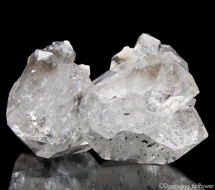 Herkimer Diamond DT Record Keeper Twin Crystal  A+++