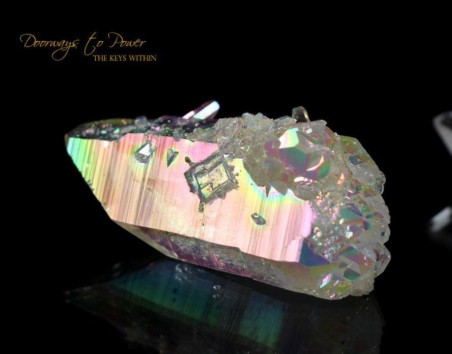 Angel Aura Lemurian Quartz Inner Child ET Crystal