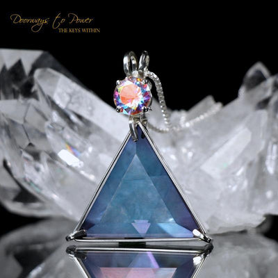 Tanzanite Aura Vogel Crystal Star of David Pendant