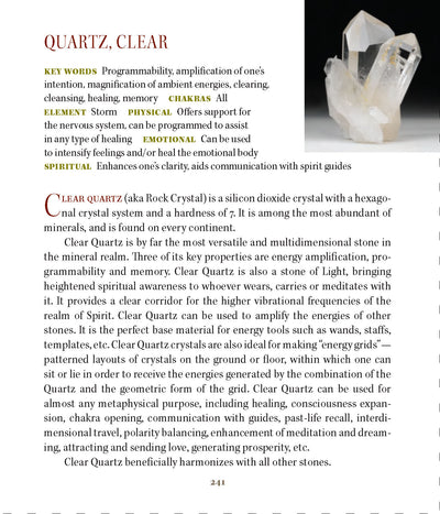 clear quartz metaphysical Properties Book of Stones