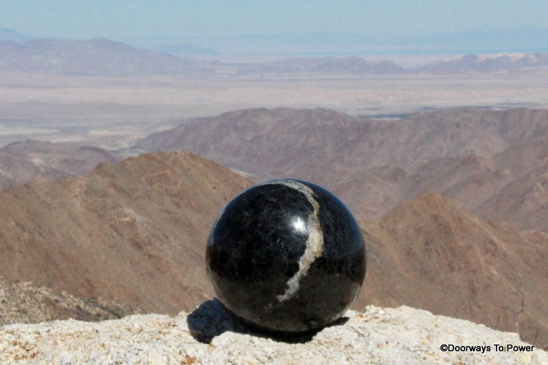 "Shamanic 4.2"" Black Tourmaline Quartz Energy Shield Crystal Sphere 4.8 lbs"