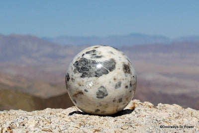 "3.4"" Rare Moonstone Sphere A +++ Incredible Markings"