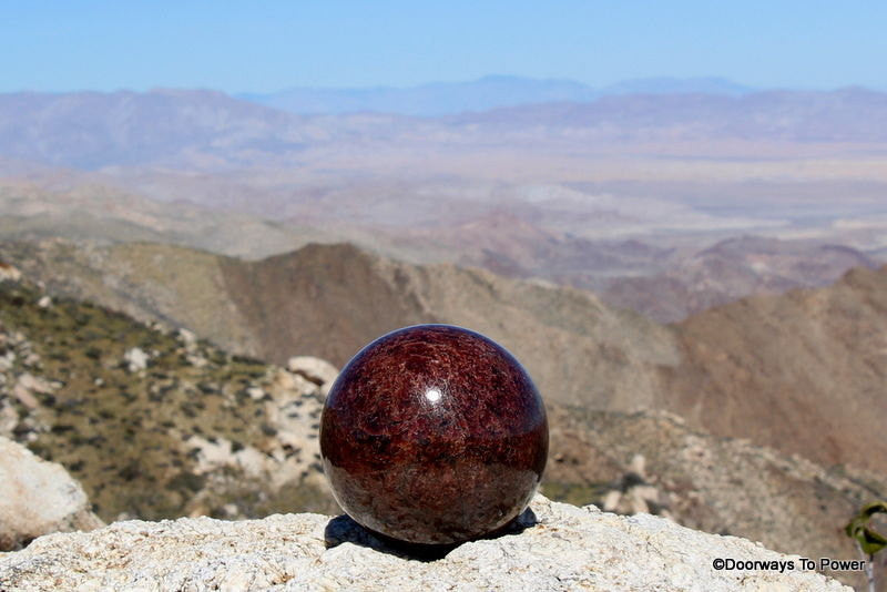 "Immaculate 4.5"" GARNET Sphere 7 lbs A++ Collector Quality"