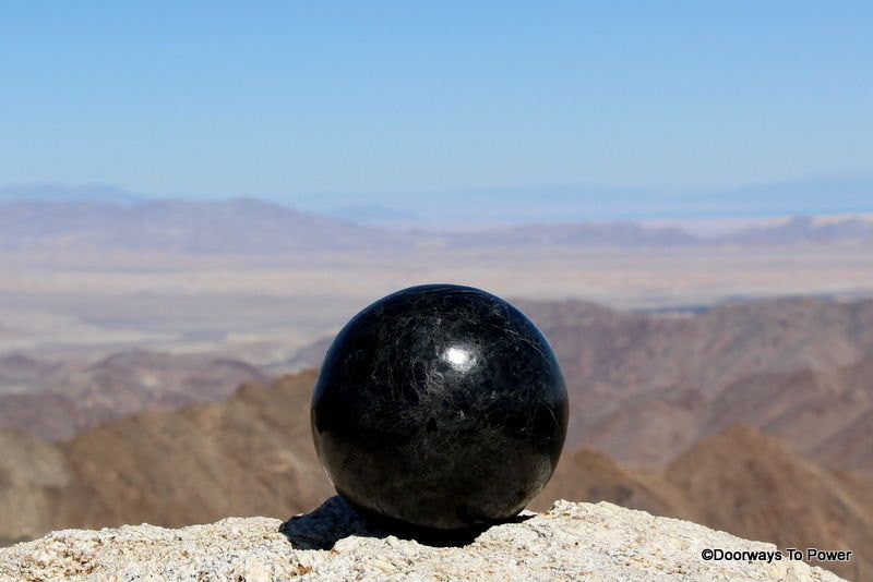 "Powerful 5"" Black Tourmaline Sphere 7.4 lbs"