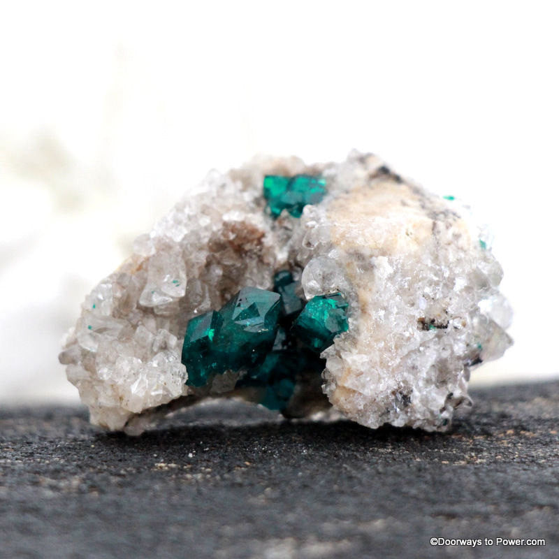 Beautiful Dioptase Specimen Cave Cluster