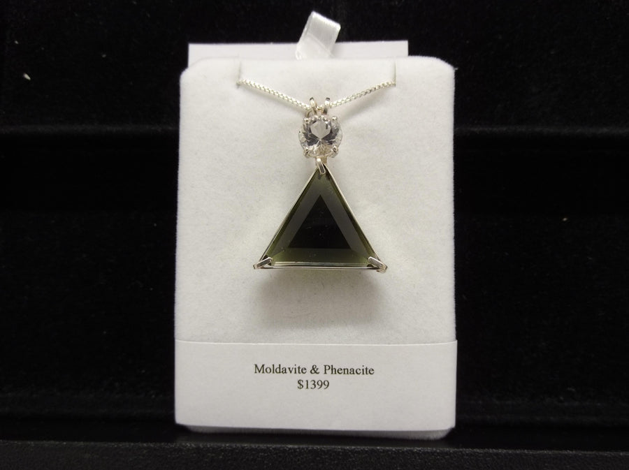 Moldavite & Phenacite Star of David Pendant (Rare & Limited Edition) Reserved for Ireene