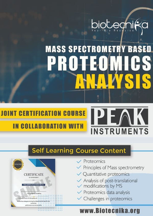 Mass Spectrometry Based Proteomics Analysis Certification Course