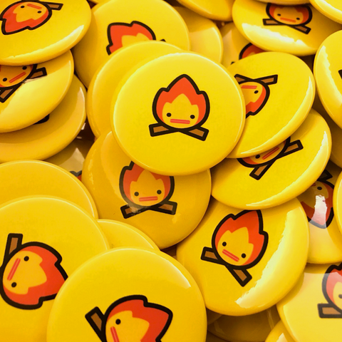 Capsubeans Button Badge Pack - Flame