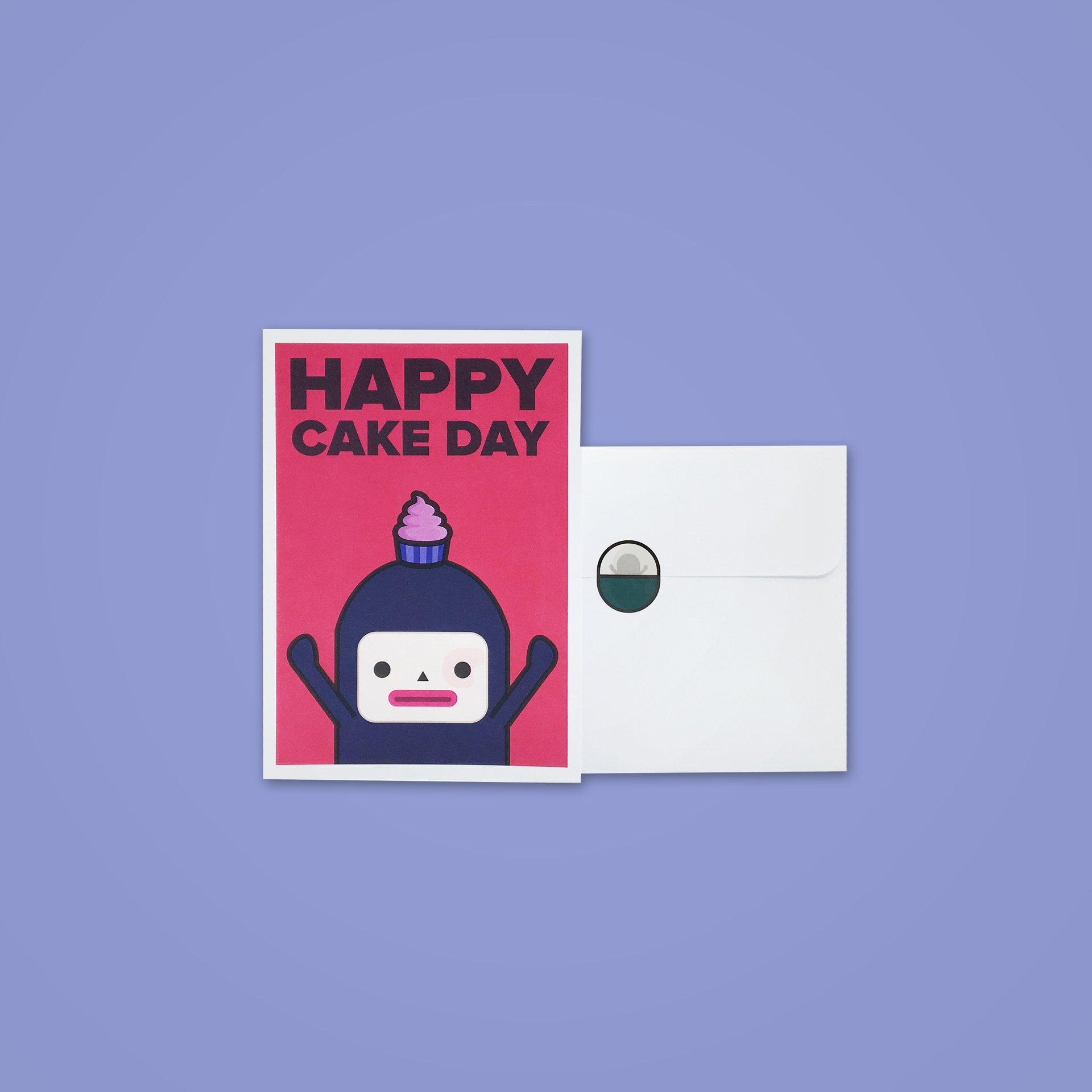 Happy Cake Day Card - Max - Capsubeans