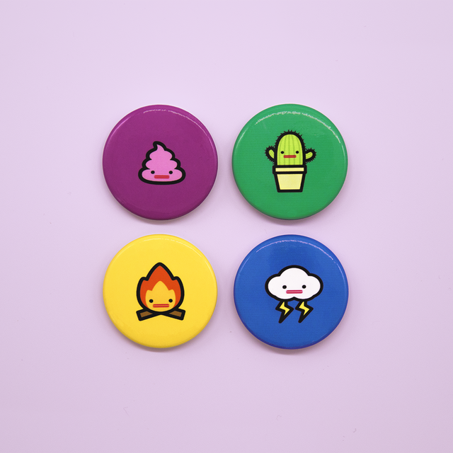 Cute Button Badge Pack - Capsubeans Lifestyle