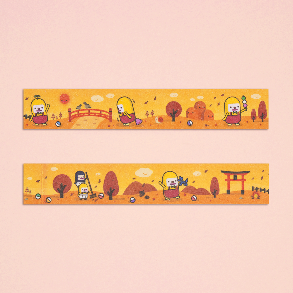 Cute Masking Tape - Autumn Charlie - Capsubeans Washi Tape