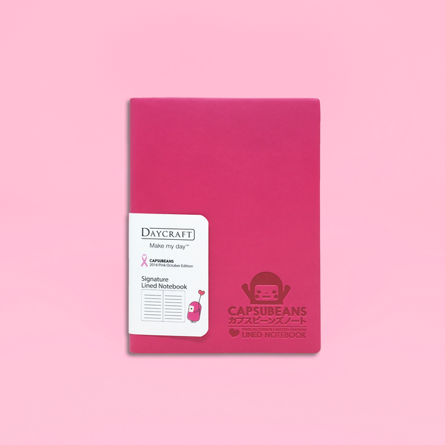 Pink October Daycraft A6 Lined Notebook - Limited Edition for Charity - Capsubeans Stationery