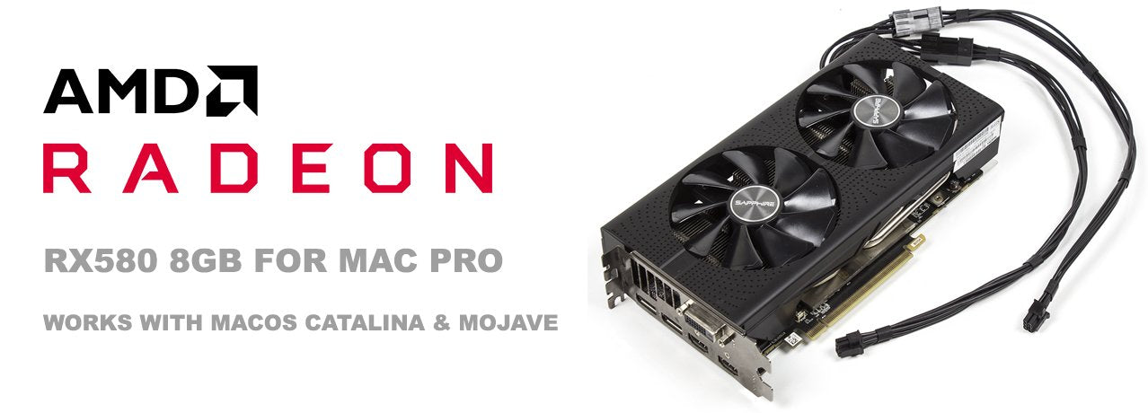 Flashed AMD Radeon RX580 8GB Mac Pro Graphics Video Card