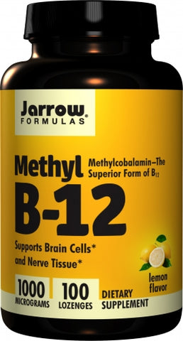 Jarrow Methyl B12, Methylcobalamin 1000mcg 100 lozenges