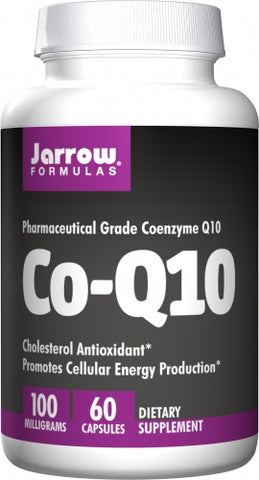 Jarrow Co-Q10, 100 mg, 60 Capsules Cholesterol Antioxidant* Promotes Cellular Energy Production*