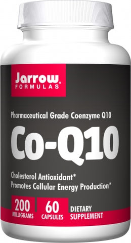 Jarrow Co-Q10 200 mg, 60 Capsules  Cholesterol Antioxidant*Promotes Cellular Energy Production*