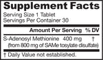 Jarrow SAM-e 400 30 tablets