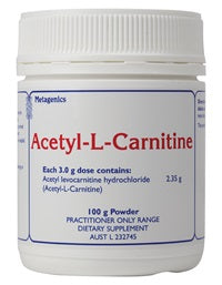 Acetyl-L-Carnitine 100g Metagenics