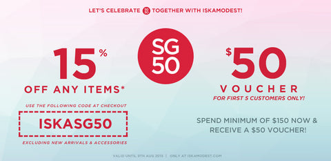 SG50 Weekend Sale with ISKAMODEST
