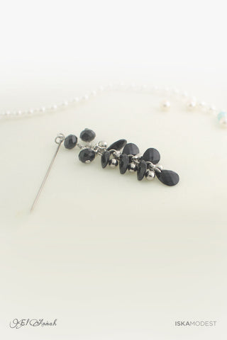 Dangling Hijab Pin - Black