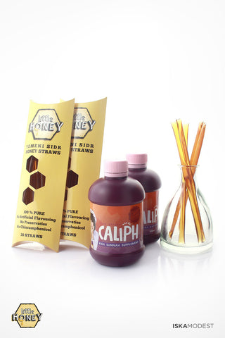 Package C3 - 60x Little Honey Straws & 2x Caliph Kids Sunnah Supplement (350ml) - Save $19.00