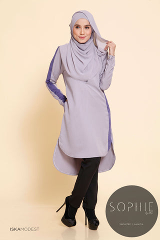 Madeena Nursing Tunic - Ash Grey