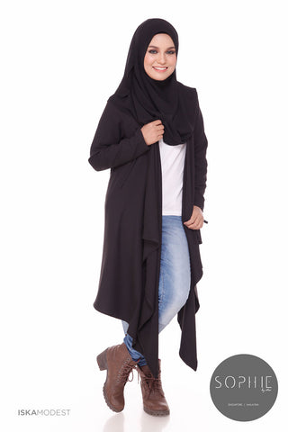 Cardilac Nursing Cardigan - Black