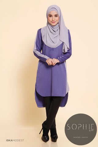 Madeena Nursing Tunic - Dusty Purple
