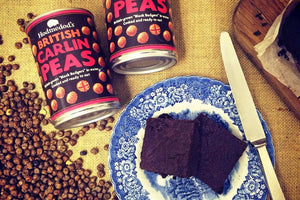 Carlin Pea Chocolate Brownies with Raisins