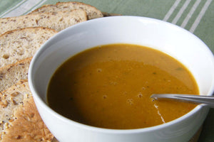 Curried Fava Bean and Salad Soup