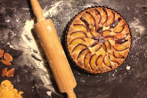 Frangipane Plum Tart with Yellow Pea Pastry