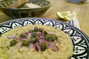 Fava Santorini made with Yellow Split Peas