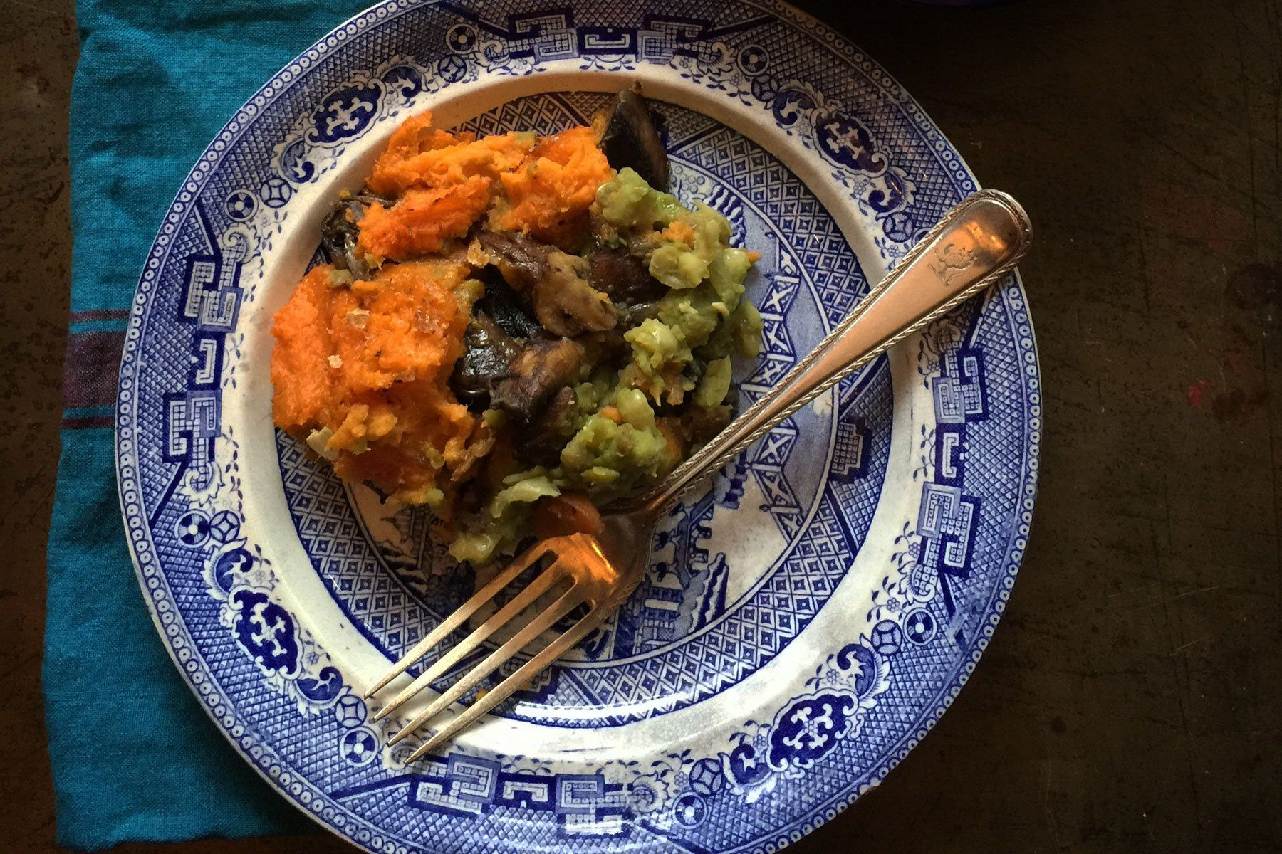 Mushy Pea and Mushroom Pie