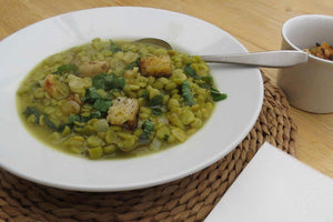 Split Green Pea Soup with Mint