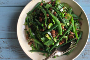 Summer Bean Salad with Umami Dressing