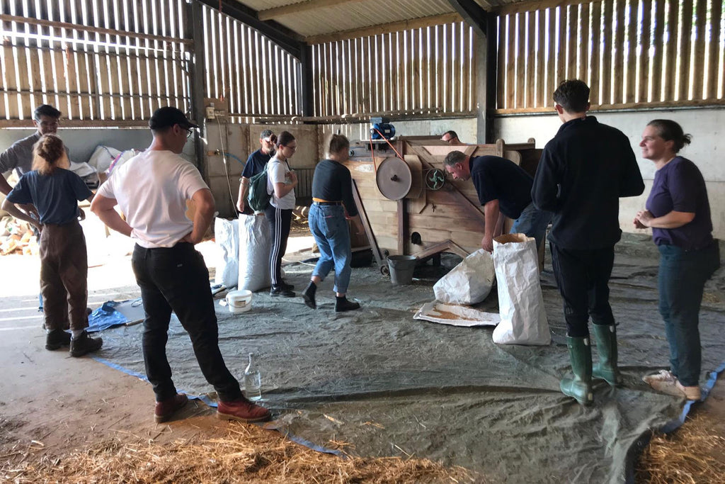 Dressing YQ Wheat at Upper Wick Farm in Worcestershire