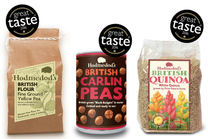 Great Taste 2016 Award Winners - Hodmedod's Yellow Pea Flour, Carlin Peas, British Quinoa
