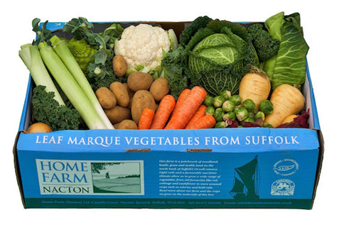 Home Farm Nacton veg box - designed by Andy Croft