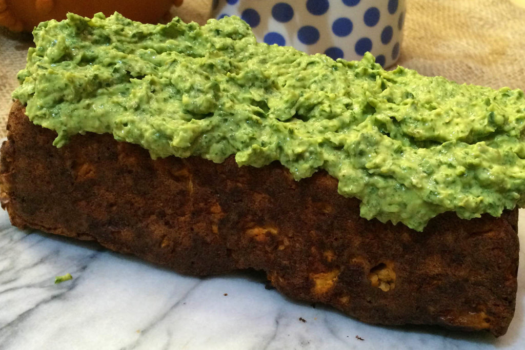 Fava Bean and Tomato Loaf with Salsa Verde