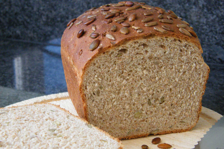 Seeded Brown Loaf with Fava Bean Flour