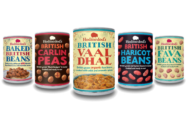 Canned Pulses Selection - Hodmedod's British Pulses & Grains