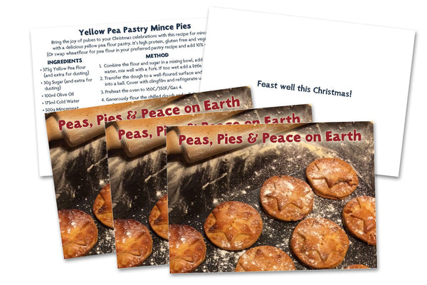 Hodmedod Christmas Cards: Peas, Pies and Peace on Earth - Hodmedod's British Pulses & Grains